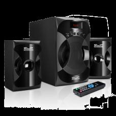 ZoundXpressions | Sistema de parlantes de 2.1 canales con reproductor de audio USB y SD