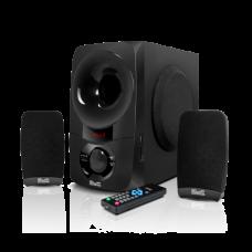 BluPulse | Sistema de parlantes estéreo de 2,1 con tecnología inalámbrica Bluetooth y reproductor de audio USB/SD